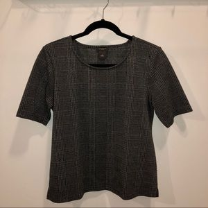Ann Taylor Factory Tops - Ann Taylor Plaid Short Sleeve Top